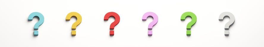 Σύνολο έξι ερωτηματικών brigid η τρισδιάστατη απεικόνιση δίνει διανυσματική απεικόνιση
