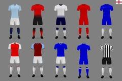 σύνολο αγγλικής εξάρτησης ποδοσφαίρου ελεύθερη απεικόνιση δικαιώματος