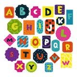 Σύνολο αλφάβητου παιδιών ελεύθερη απεικόνιση δικαιώματος