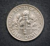 Σύνολο αναμνηστικού το ΑΜΕΡΙΚΑΝΙΚΟ νόμισμα, η ονομαστική αξία 1 δεκάρας Στοκ φωτογραφία με δικαίωμα ελεύθερης χρήσης
