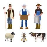 Σύνολο ανθρώπων των διαφορετικών επαγγελμάτων διανυσματική απεικόνιση