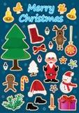 Σύνολο αντικειμένων Χριστουγέννων Στοκ εικόνα με δικαίωμα ελεύθερης χρήσης