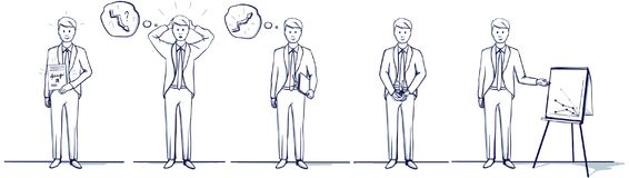 Σύνολο απεικόνισης κινούμενων σχεδίων επιχειρησιακών ατόμων Σκηνές στάσεων Στοκ Εικόνα