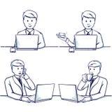 Σύνολο απεικόνισης κινούμενων σχεδίων επιχειρησιακών ατόμων Σκηνές συνεδρίασης Στοκ Φωτογραφίες