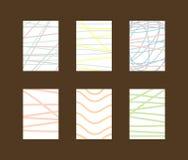 Σύνολο απλών κάθετων υποβάθρων με τις κακογραφίες και τις γραμμές διανυσματική απεικόνιση
