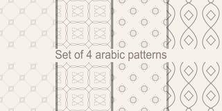 Σύνολο αραβικού άνευ ραφής σχεδίου Διάνυσμα που επαναλαμβάνει τη σύσταση Στοκ εικόνα με δικαίωμα ελεύθερης χρήσης