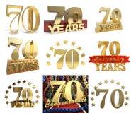Σύνολο αριθμού εβδομήντα έτη 70 έτη σχεδίου εορτασμού Στοκ φωτογραφία με δικαίωμα ελεύθερης χρήσης