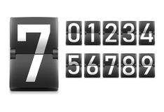 Σύνολο αριθμών, ψηφία στο μηχανικό ύφος πινάκων βαθμολογίας απεικόνιση αποθεμάτων