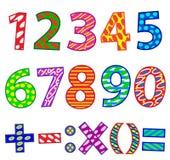 Σύνολο αριθμών διανυσματική απεικόνιση