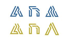Σύνολο αρχικού ένα διάνυσμα λογότυπων Στοκ Φωτογραφίες