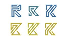 Σύνολο αρχικού διανύσματος λογότυπων Ρ Στοκ φωτογραφία με δικαίωμα ελεύθερης χρήσης