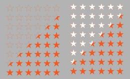 Σύνολο αστεριών περιγράμματος και σκιαγραφιών για τους ιστοχώρους και την εφαρμογή ελεύθερη απεικόνιση δικαιώματος