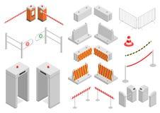 Σύνολο ασφάλειας υποδομής στοιχείων Στοκ φωτογραφία με δικαίωμα ελεύθερης χρήσης