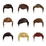 Σύνολο ατόμων ` s Hairstyles Στοκ Φωτογραφίες
