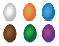 σύνολο αυγών Πάσχας ελεύθερη απεικόνιση δικαιώματος