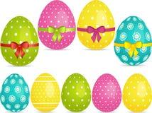 σύνολο αυγών Πάσχας Στοκ Φωτογραφία