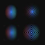 Σύνολο αφηρημένης σπείρας Πρότυπο λογότυπων δακτυλικών αποτυπωμάτων Βιομετρικός, σύστημα ασφαλείας logotype εικονίδιο ανιχνευτών  ελεύθερη απεικόνιση δικαιώματος