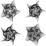 Σύνολο αφηρημένου γεωμετρικού υποβάθρου spirograph επίσης corel σύρετε το διάνυσμα απεικόνισης απεικόνιση αποθεμάτων