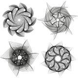 Σύνολο αφηρημένου γεωμετρικού υποβάθρου spirograph επίσης corel σύρετε το διάνυσμα απεικόνισης διανυσματική απεικόνιση