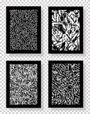 Σύνολο αφηρημένων συρμένων χέρι σχεδίων επίσης corel σύρετε το διάνυσμα απεικόνισης Στοκ Φωτογραφία
