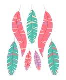 Σύνολο αφηρημένων φωτεινών φτερών στο άσπρο υπόβαθρο απεικόνιση αποθεμάτων