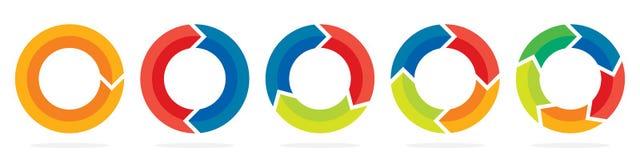 Σύνολο βελών κύκλων επίσης corel σύρετε το διάνυσμα απεικόνισης απεικόνιση αποθεμάτων