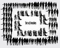 Σύνολο βουρτσών Ανθρώπινος αριθμός ` s επίσης corel σύρετε το διάνυσμα απεικόνισης απεικόνιση αποθεμάτων