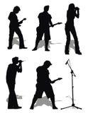 σύνολο βράχου μουσικής ελεύθερη απεικόνιση δικαιώματος