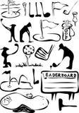 σύνολο γκολφ κινούμενων σχεδίων Στοκ φωτογραφίες με δικαίωμα ελεύθερης χρήσης