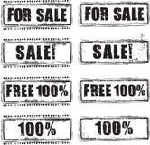 Σύνολο γραμματοσήμων πώλησης Στοκ Εικόνα