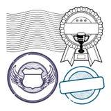 Σύνολο γραμματοσήμων Στοκ Φωτογραφίες