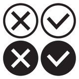 Σύνολο γραπτών κουμπιών εικονιδίων, περίληψης και επίπεδου σχεδίου Επιβεβαίωση και απόρριψη Ναι και αριθ. r απεικόνιση αποθεμάτων
