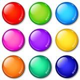 σύνολο γυαλιού κουμπιών ελεύθερη απεικόνιση δικαιώματος