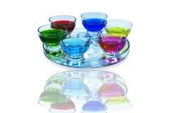 Σύνολο γυαλιού πιάτων επιδορπίων Στοκ Φωτογραφίες