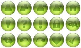 σύνολο γυαλιού 3 κουμπιώ& Στοκ φωτογραφία με δικαίωμα ελεύθερης χρήσης