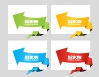 Σύνολο γωνιακής λεκτικής φυσαλίδας βελών origami για το σχέδιο της ετικέτας διαφημίσεων, αυτοκόλλητη ετικέττα, τιμή έκπτωσης στοκ φωτογραφία με δικαίωμα ελεύθερης χρήσης