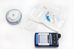 σύνολο δεξαμενών αντλιών ινσουλίνης έγχυσης στοκ εικόνες με δικαίωμα ελεύθερης χρήσης