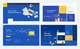 Σύνολο δημιουργικών σχεδίων προτύπων ιστοχώρου ελεύθερη απεικόνιση δικαιώματος