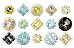 Σύνολο διάφορων καθιερωνόντων τη μόδα ράβοντας κουμπιών Στοκ Εικόνες