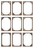 Σύνολο διακοσμητικού πλαισίου στο εκλεκτής ποιότητας ύφος στοκ εικόνες