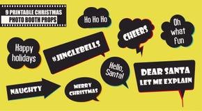 Σύνολο διανυσματικής απεικόνισης στηριγμάτων θαλάμων φωτογραφιών Συλλογή γιορτής Χριστουγέννων ελεύθερη απεικόνιση δικαιώματος
