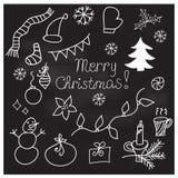 Σύνολο διανυσματικών απεικονίσεων Χριστουγέννων doodle Στοκ φωτογραφία με δικαίωμα ελεύθερης χρήσης