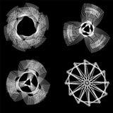 Σύνολο διανυσματικών για πολλές χρήσεις στοιχείων spirograph διανυσματική απεικόνιση