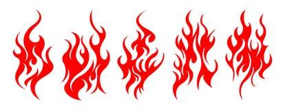 Σύνολο διανυσματικών στοιχείων σχεδίου πυρκαγιάς Στοκ Εικόνα