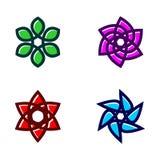 Σύνολο διανύσματος εικονιδίων λουλουδιών διανυσματική απεικόνιση