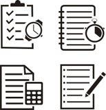 Σύνολο διανύσματος σημειωματάριων διανυσματική απεικόνιση