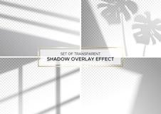 Σύνολο διαφανών αποτελεσμάτων επικαλύψεων σκιών απεικόνιση αποθεμάτων