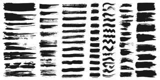 Σύνολο διαφορετικών κτυπημάτων βουρτσών χρωμάτων μελανιού που απομονώνονται στο άσπρο υπόβαθρο επίσης corel σύρετε το διάνυσμα απ στοκ φωτογραφίες