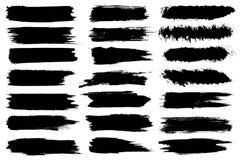 Σύνολο διαφορετικών κτυπημάτων βουρτσών χρωμάτων μελανιού που απομονώνονται στο άσπρο υπόβαθρο Ανασκόπηση εμβλημάτων Grunge επίση στοκ εικόνα με δικαίωμα ελεύθερης χρήσης