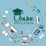 Σύνολο διαφορετικών στοιχείων Ιστού εκπαίδευση on-line Στοκ εικόνες με δικαίωμα ελεύθερης χρήσης